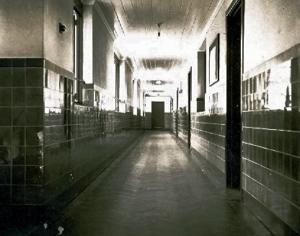 Corridor from prefects room by Tony Hills